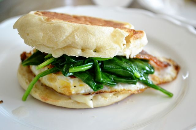 Its the LifeSandwich SundaySpinach, Egg  Bacon with Brie