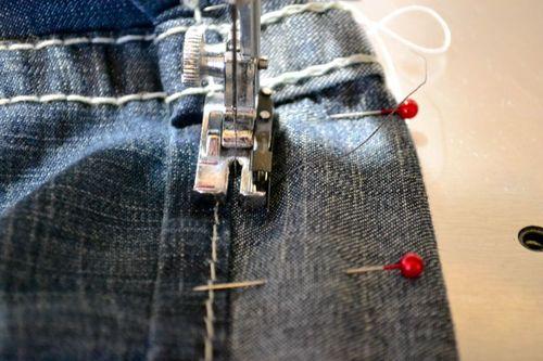 it 39 s the life tutorial shorten your jeans keep the original hem. Black Bedroom Furniture Sets. Home Design Ideas