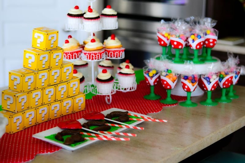 Its The Life Super Mario Birthday Cake Table